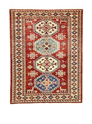 Eden Teppich   Kazak Super 129X164 mehrfarbig