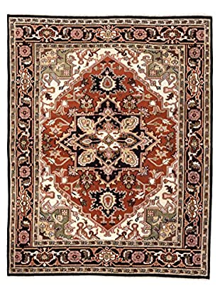 eCarpet Gallery One-of-a-Kind Hand-Knotted Royal Heriz Rug, Black/Copper, 8' 1