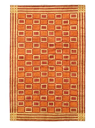 Gabbeh Modern Rug, Copper/Light Khaki, 6' 8