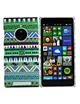 Heartly Aztec Tribal Art Printed Design Retro Color Armor Hard Bumper Back Case Cover For Nokia Lumia 830 RM-984 - Nature Green