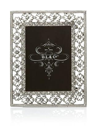 D.L. & Co. Floral/Jewel Picture Frame (Silver)