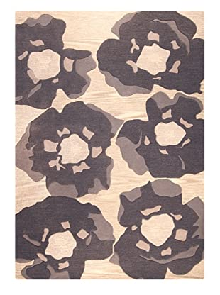 MAT the Basics Poppy Hand-Tufted & Carved Rug (Grey)