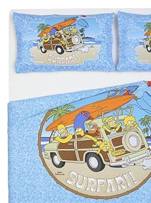 Cartoons Home Parure Copripiumino Simpsons Aloha (azzurro/sabbia)