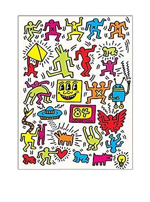 Artopweb Wandbild Haring Untitled 1984 - 80x60 cm mehrfarbig