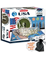 4 D Usa Cityscape Time Puzzle With Storage Bag