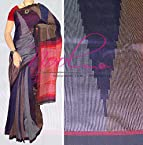 Nool Indian Blue Red Handloom Bailu Silk Saree Ikat Traditional Sari VB.83.25.2