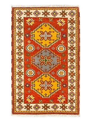 Hand-Knotted Royal Kazak Rug, Orange, 3' 1