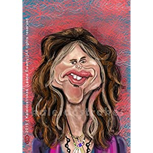 Kaleidostrokes Caricature - Steven Tyler
