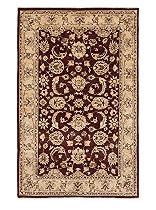 eCarpet Gallery One-of-a-Kind Hand-Knotted Peshawar Oushak Rug, Dark Brown, 5' 3