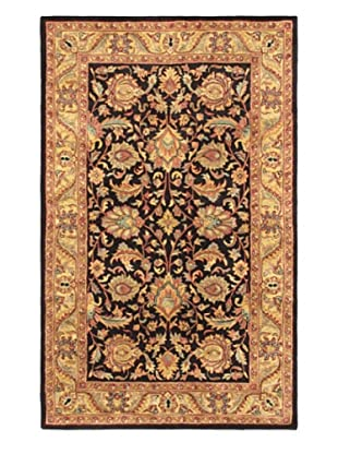 Handmade Manchester Rug, Black/Light Gold, 4' 11