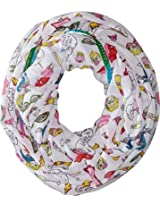 Betsey Johnson Women's Iconic Iconics Infinity White Scarf One Size