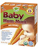 Hot-Kid Baby Mum-Mum Carrot Flavor Organic Rice Biscuit, 24-pieces (Pack of 6)