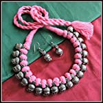 [N16O_029] Baby Pink Thread Necklace