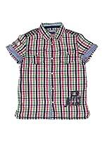 Pepe Jeans London Camisa Michael (Verde / Rosa / Azul)