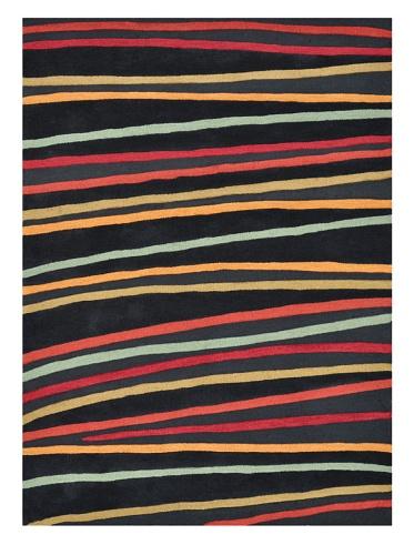 Loloi Rugs Aurora Collection Rug (Black Stripes)