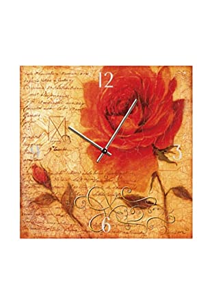PlatinArt Reloj De Pared Romantic Rose Gal.-Rowena 40 x 40