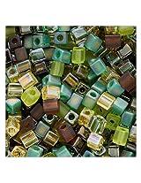 Beadaholique Miyuki 10gm Glass Cube Bead Mix, 4mm, 'Earthtones'