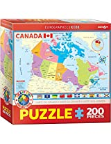 Euro Graphics Map Of Canada Puzzle (200 Piece)