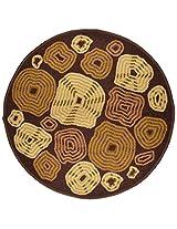 """Agra Dari Woolen Door Mat - 7"""" x 9"""" x 0.39"""", Brown"""
