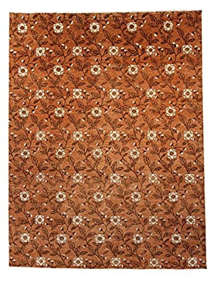 F.J. Kashanian One-of-a-Kind Hand-Knotted March Rug, Tangerine, 8' 10