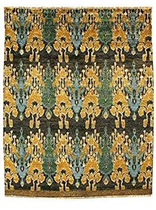 nuLOOM One-of-a-Kind Marquis Hand-Knotted Ikat Area Rug, Black, 5' 9