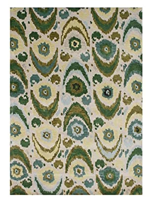 Alliyah Rugs New Zealand Wool Rug (Beige/Olive/Aqua Multi)