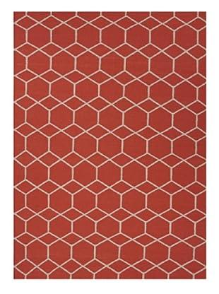 Jaipur Rugs Hand-Made Flat Weave Geometric Rug (Red/Orange)