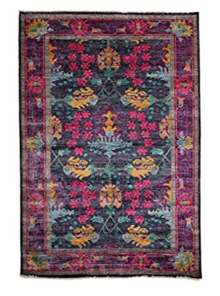 Darya Rugs Pakistani Modern Oriental Rug, Purple, 9' x 6' 2