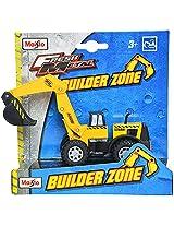Maisto Builder Zone Excavator Die Cast Toy Truck (Yellow)