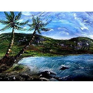 NUCreations The Beach - Original Painting - Oil Paint On Canvas