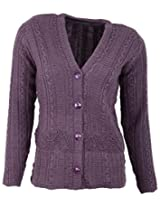 Casanova Women's Long Sleeve Cardigans (7321, Light Purple, L)