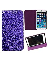 DooDa PU Leather Flip Case Cover For Micromax Canvas Doodle A111 (Purple)