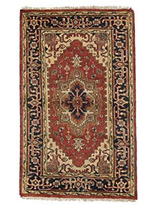 Rug Republic One Of A Kind Indo-Serapi Hand Knotted Rug, Antique Red/Multi, 3' x 5'