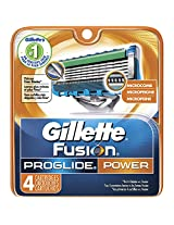 Gillette Fusion ProGlide Power Men's Razor Blade Refills 4 Count