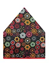 Tiekart Floral Print Polyester Pocket Square (Ps504_Multi-Coloured)