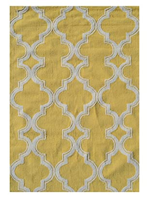 The Rug Market Jafar Rug (Yellow/White)