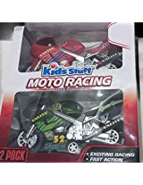 Friction Powered Moto Racing Cross Country Motorcycles, Two Pack