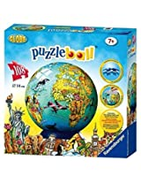 Ravensburger Children's World Map Puzzleball (108 Pieces)