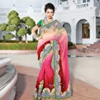 MultiColor Embroidered Saree.