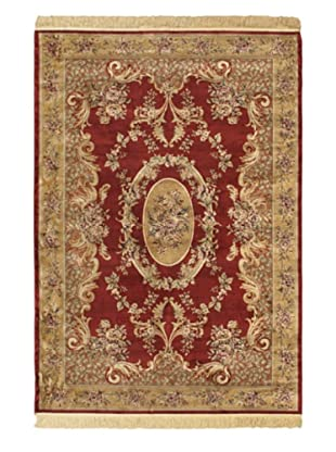 Persian Rug, Dark Red/Light Brown, 4' 7