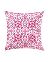 Peking Handicraft 18 by 18-Inch Down-Filled Pillow, Valencia, Pink