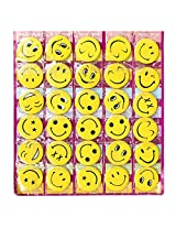Smiley Face Expressions Button Pins - Set of 30 - Birthday, Office and Theme Party Supplies.
