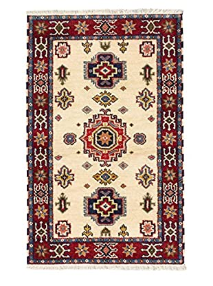 Hand-Knotted Royal Kazak Rug, Cream/Dark Red, 3' 1