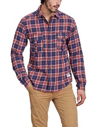 JACK & JONES Camisa (Rojo / Azul)