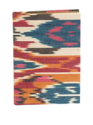 Aviva Stanoff Gilt-Edged Ikat Keepsake Wide-Ruled Journal, Multi