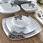 FabFurnish Oxford Cottage Dinner Set of Eighteen Pieces
