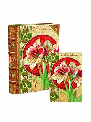 Punch Studio Bookbox Holiday Greeting Cards (Amaryllis)
