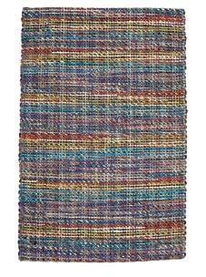 Classic Home Rope Braided Jute Rug (Multi/Stripe)