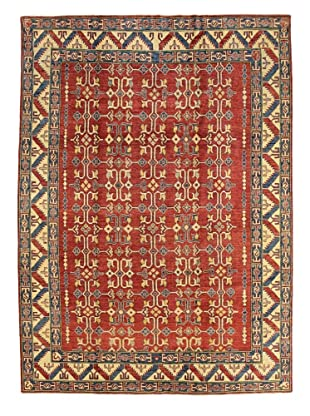 Bashian Rugs One-of-a-Kind Hand Knotted Paki Kazak Rug, Red, 7' 7