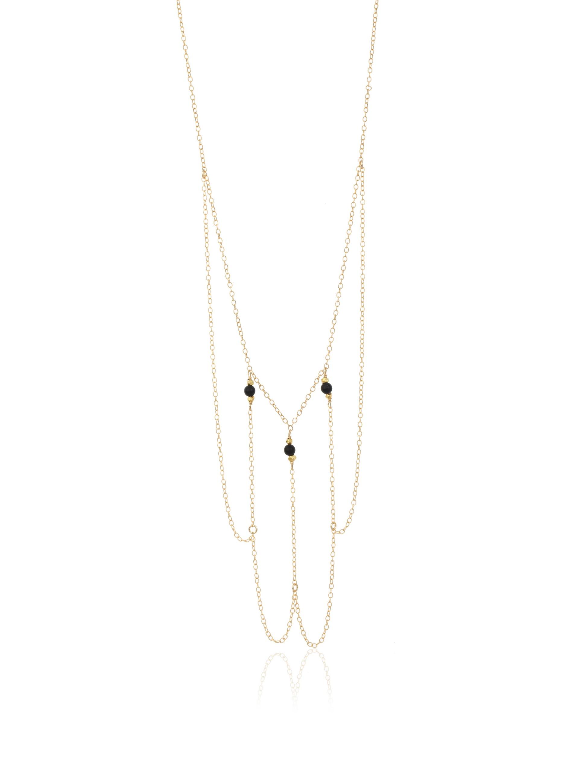 gorjana Black Onyx Capri Long Layered Necklace